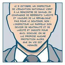 Cette bande dessinée retrace le drame de Samuel Paty et accuse l'Éducation  nationale