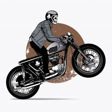 skeleton rigind a motorbike vector free download