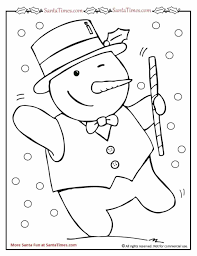 Small Picture Coloring Pages Kids On Pinterest Dancing Snowman Page Dancing
