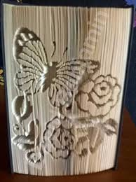 erfly with flowers cut and fold book folding pattern