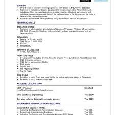 Oracle Dba Cv Oracle Dba Resume Format Archives Spartaces Resumes