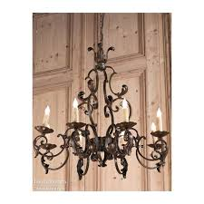wrought iron french country chandeliers antique