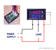 how to wire digital dual display volt and ammeter diy projects wiring volt ammeter out external power supply for chip