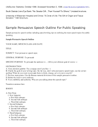 how to write an outline for a persuasive speech 5