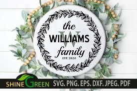 This product will be delivered as digital download. Family Monogram Frame For Home Farmhouse Graphic By Shinegreenart Creative Fabrica