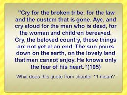 cry the beloved country essay on fear reverend stephen kumalo sparknotes cry the beloved country analysis of major characters