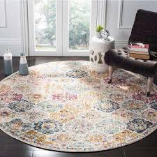 madison cream multi 9 ft x 9 ft round area rug