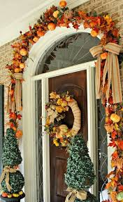 Flowy Thanksgiving Front Door Decorations In Creative Home Decorating Ideas  P15 With Thanksgiving Front Door Decorations