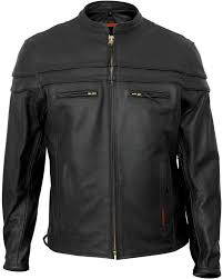 interstate leather scooter jacket big tall black