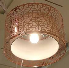 copper with natural lining laser cut metal drum pendant light shade black iconic 6 light champagne mist drum pendant with recycled steel