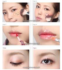 korean makeup makeup tutorial 17 apply highlighter in that motion on the height of your cheek bones