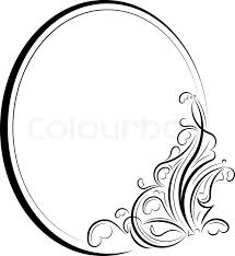 oval frame design. \ Oval Frame Design E
