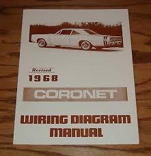 1968 dodge coronet wiring diagram manual 68 9 00 picclick 1968 dodge coronet wiring diagram manual 68