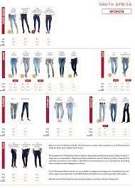 Levis Womens Size Chart Levis Denim Size Guide For Women Zando