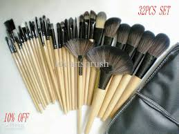 new hot 10 professional cosmetic brushes set synthetic makeup brushes kit with pu makeup bag beauty brushes artist brush makeup brush holder