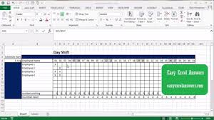 work scheduler excel how to create a work schedule in excel youtube