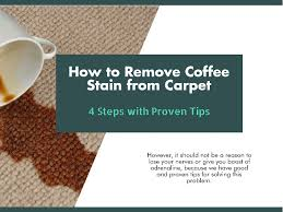 Then, blot the area with a dry white cloth starting at the edges of the stain and moving inward to prevent the color from seeping to surrounding fibers. How To Remove Coffee Stains From Carpet 4 Steps With Proven Tips Clean Up Home