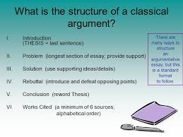 writing effective arguments what is a written argument what is a what is the structure of a classical argument