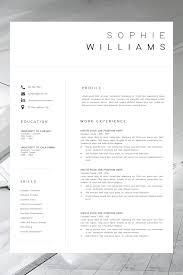 New Cv Template Resume Template Minimalist Professional Cv
