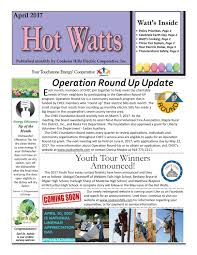 2017 April Cookson Hills Hot Watts by Inside Information - issuu