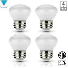 triglow 25 watt equivalent r14 mini reflector dimmable led light bulbs 4 pack