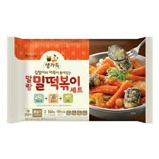 Korean Pulmuone Frozen Instant Spicy Rice Cake Tteokbokki Making Set