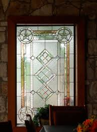 texas star design stained glass window