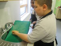 westminster special school in white house adam is working independently in our food and tech lesson