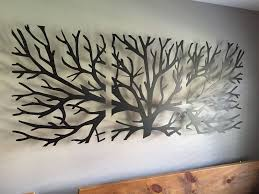 >metal wall art decor 3d sculpture 3 piece tree brunch modern  tree metal wall art abstract wall decor this 500mm high by 1200mm long tree metal art piece is made from a 3mm mild steel fittings not included no