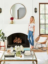 tour lauren conrad s elegant light filled home in the pacific palisades fireplace hearthcorner fireplacesover