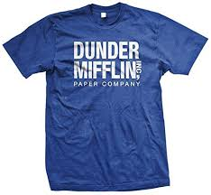 the office merchandise. contemporary the the office tv show dunder mifflin paper menu0027s royal blue tshirt m with merchandise