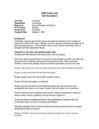 Job Profile Of Document Controller Fillable Online Controller Job Description Sop