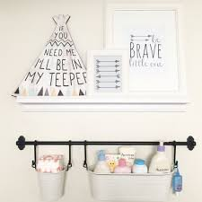 diy supply shelf diaper changing station got and pails from ikea hanging fruit basket kitchen