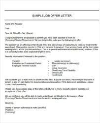 40+ Offer Letter Examples