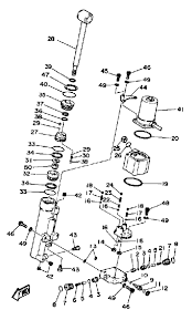 1987 yamaha power trim tilt assembly parts for 40 hp 40esh