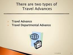 Advances Business Center Training For Travel Advance Ppt