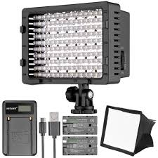 Cn 160 Led Video Light Battery Us 32 99 Neewer Cn 160 Led Digital Camera Video Lighting Kit Dimmable Led Video Light Foldable Diffuser Rechargeable Battery With Charger In