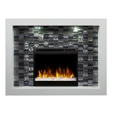 dimplex crystal 58 inch electric fireplace mantel acrylic ember bed white gds28g8 1944w gas log guys