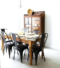 rustic wood dining table set matte black chairs with a rustic wooden table from pineapple life