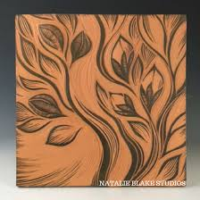 cayenne botanical single wall art tile natalie blake studio shop tiles nz cayenne product type  on ceramic wall art tiles australia with art wall art tiles copper studio metal wall art plaque set tiles