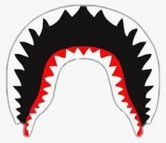 bape mouth png bape shark white logo