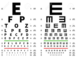 Eyes Test Chart Vision Testing Table Ophthalmic Spectacles