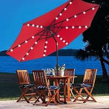 patio umbrella solar lights the est with led light bed bath and beyond