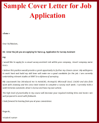Cover Letter Example For Job Cover Letter Example For Job Cover