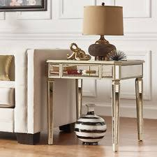 antique mirrored furniture. Antique Glam Gold 1-Drawer Mirrored End Table Home Furniture
