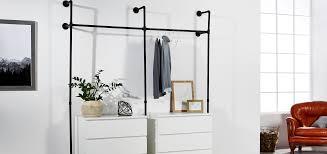Diy Kleiderstange Aus Rohren Selber Bauen Industrial Style Pamo