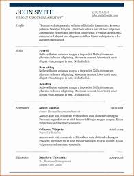 8 One Page Resume Sample Resume Easy Format