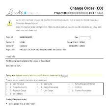 Project Change Order Template Work Order Log Template Work Order Log Template Free Change Order