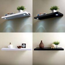 shelf lighting led. Modern Battery Operated LED Floating Shelf Illuminated Wooden Shelves Lighting Led