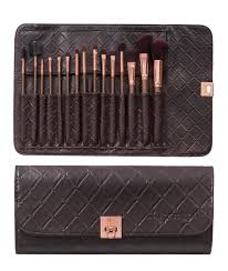 bh cosmetics 15 pc rose gold brush set
